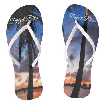Beach Themed Perfect Bliss - Sunset in West Palm Beach Flip Flops