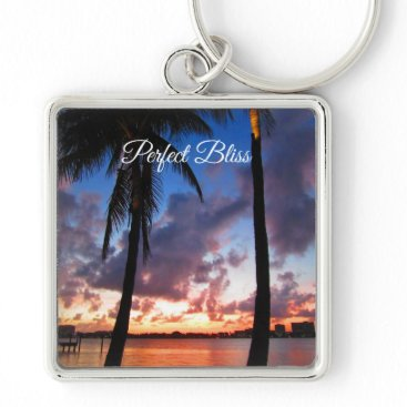 Beach Themed Perfect Bliss - Sunset in West Palm Beach Keychain