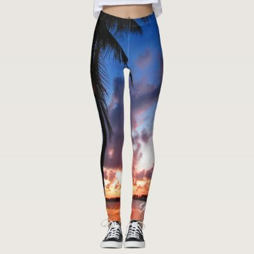 Beach Themed Perfect Bliss - Sunset in West Palm Beach Leggings