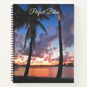 Beach Themed Perfect Bliss - Sunset in West Palm Beach Notebook