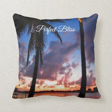 Beach Themed Perfect Bliss - Sunset in West Palm Beach Throw Pillow