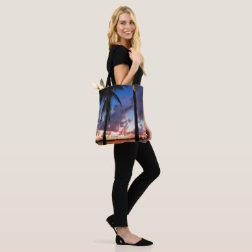 Beach Themed Perfect Bliss - Sunset in West Palm Beach Tote Bag