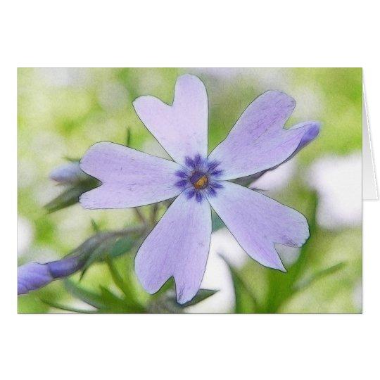 Perfect Blue Creeping Phlox Flower Card