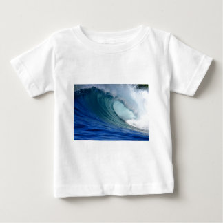 Perfect blue ocean surfing wave baby T-Shirt