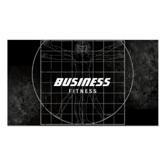 Perfect Body Grunge Dark Fitness Training Double-Sided Standard Business Cards (Pack Of 100)