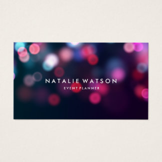 Perfect Bokeh Hazy Lights Professional Photography Business Card