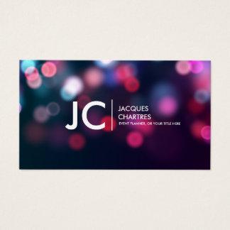 Perfect Bokeh Monogram Professional Photography Business Card