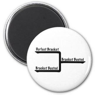 Perfect Bracket vs Brackets Busted Bracketology 2 Inch Round Magnet