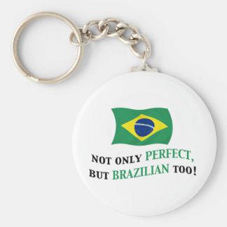 Perfect Brazilian Basic Round Button Keychain