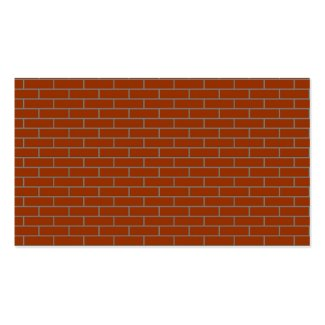 perfect brick wall business card template