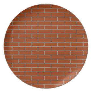 perfect brick wall melamine plate