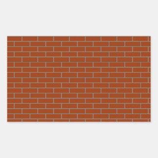 perfect brick wall rectangular sticker