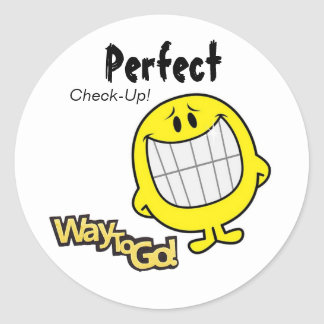 Perfect Check-Up Dentist Office Stickers