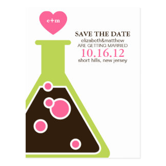 Perfect Chemistry Wedding Save the Date Postcard