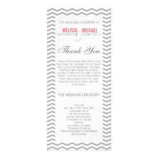 Perfect Chevron/Zig Zag Wedding Program Rack Card Template