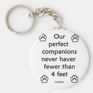 Perfect Companions Basic Round Button Keychain