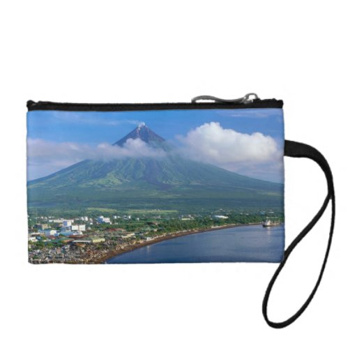 Perfect Cone Mayon Volcano Key Coin Clutch Bag