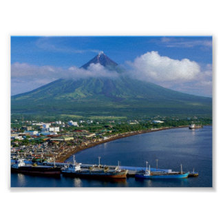 Perfect Cone of Mayon Volcano Paper Matte Poster