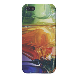 """""""Perfect Curves"""" art glass in watercolor by Paul J Cover For iPhone SE/5/5s"""