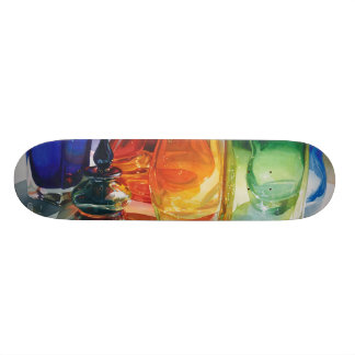 """""""Perfect Curves"""" Art Glass Watercolor Skateboard"""