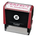 "[ Thumbnail: ""Perfect!"" + Custom Educator Name Self-Inking Stamp ]"
