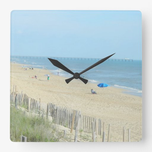 Perfect Day at The Beach Square Wall Clock