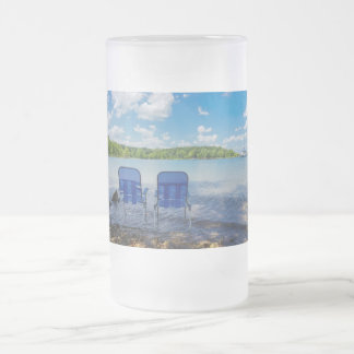 Perfect Day At The Lake Frosted Glass Beer Mug
