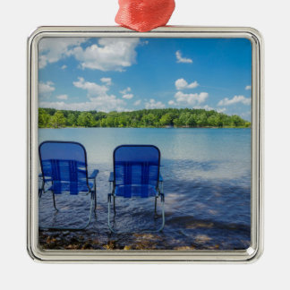 Perfect Day At The Lake Metal Ornament