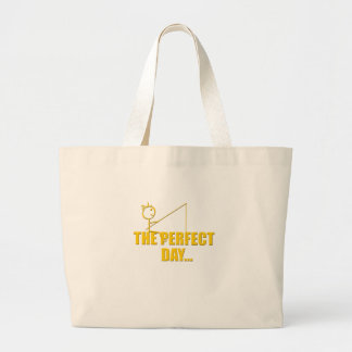 Perfect Day Fishing Large Tote Bag
