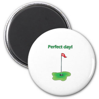 Perfect Day! Golf Design Magnet