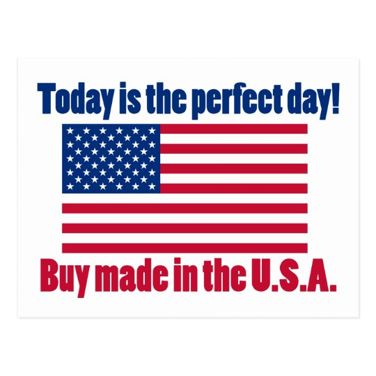 Perfect Day to Buy USA Postcard