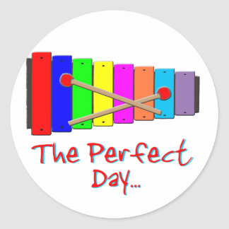 Perfect Day Xylophone Classic Round Sticker