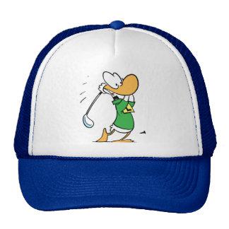 Perfect Drive Ding Duck Golf Cap Trucker Hat