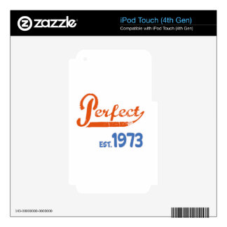 Perfect Est. 1973 iPod Touch 4G Skins