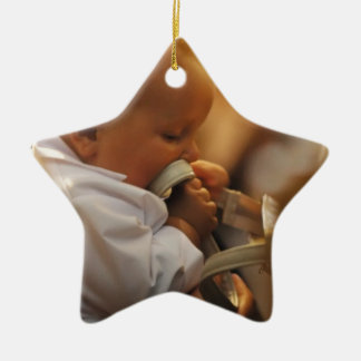 Perfect for special occasions such Baptisms Ceramic Ornament