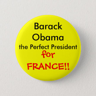 Perfect French President Pinback Button