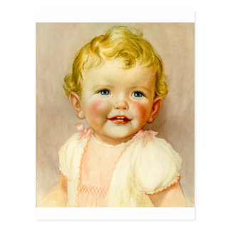 perfect gift for a baby girl birth! postcard