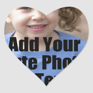 Perfect Gift for Family Customize with Your Photo Heart Sticker