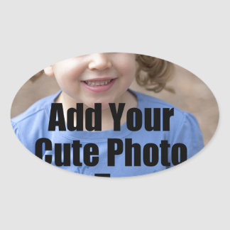 Perfect Gift for Family Customize with Your Photo Oval Sticker