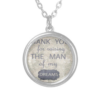 Perfect Gift for Mother in Law Round Pendant Necklace