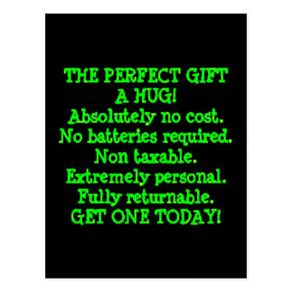 Perfect Gift is a Hug Post Card