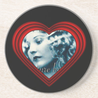 Perfect Heart Photo Frame Template Drink Coaster