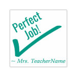 "[ Thumbnail: ""Perfect Job!"" Feedback Rubber Stamp ]"
