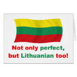 Perfect Lithuanian Greeting Card
