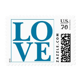 Perfect Love Big Wedding  Pacific Blue Postage