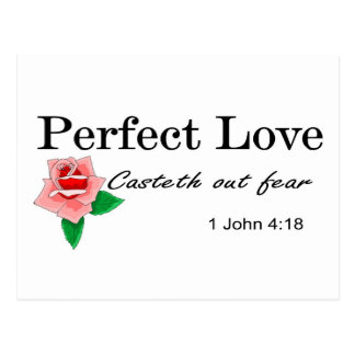 Perfect love casteth out fear postcard