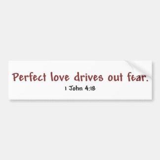 Perfect Love (white) Bumper Sticker