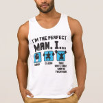 Perfect Man - Funny Weightlifting Gym Tanktops