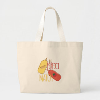 Perfect Match Large Tote Bag