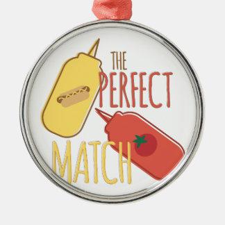 Perfect Match Metal Ornament